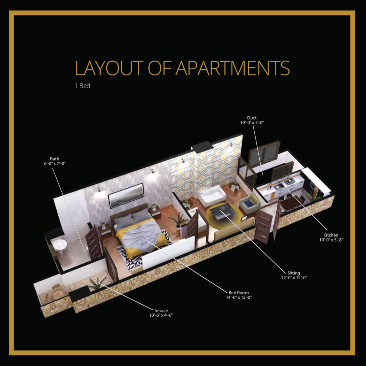 1 Bed Layout